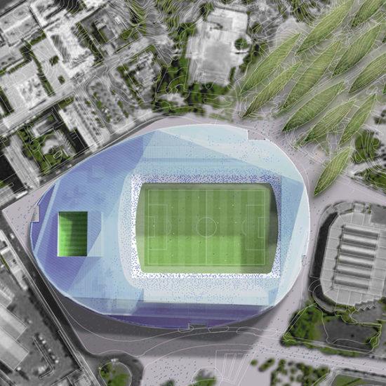 Estadio de fútbol Rico Pérez. Hércules. Arquitectos Alicante. eneseis Arquitectura