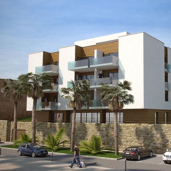 Residencial Farrallón. Residencial en Campo de Golf. Arquitectos Alicante. eneseis Arquitectura