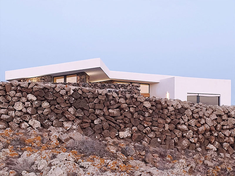 Vivienda Unifamiliar. Casa Lajares. Parcela irregular Arquitectos. Fuerteventura. eneseis Arquitectura