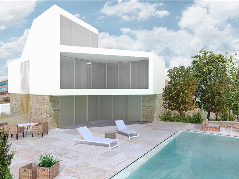 Vivienda Unifamiliar. Casa Océano. Casa de lujo en Alicante. Arquitectos Alicante. eneseis Arquitectura