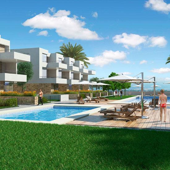 Residencial Terrazas de Campoamor. Viviendas Adosadas. Arquitectos Alicante. eneseis Arquitectura
