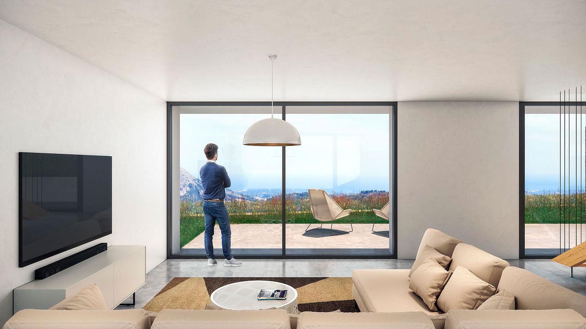 Vivienda Unifamiliar. Casas La Vall. Parcela abancalada. Arquitectos Guadalest. Arquitectos Alicante. eneseis Arquitectura