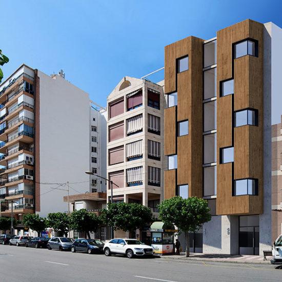 Residencial Rambla. Bloque viviendas. Arquitectos Muchamiel. Arquitectos Alicante. eneseis Arquitectura