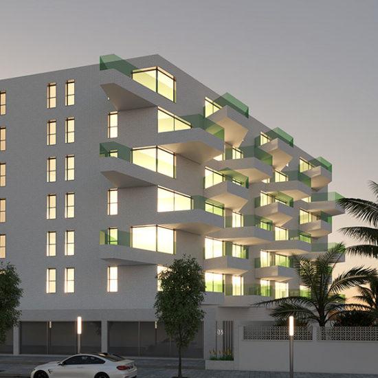 Residencial San Juan. Bloque viviendas. Arquitectos San Juan. Arquitectos Alicante. eneseis Arquitectura