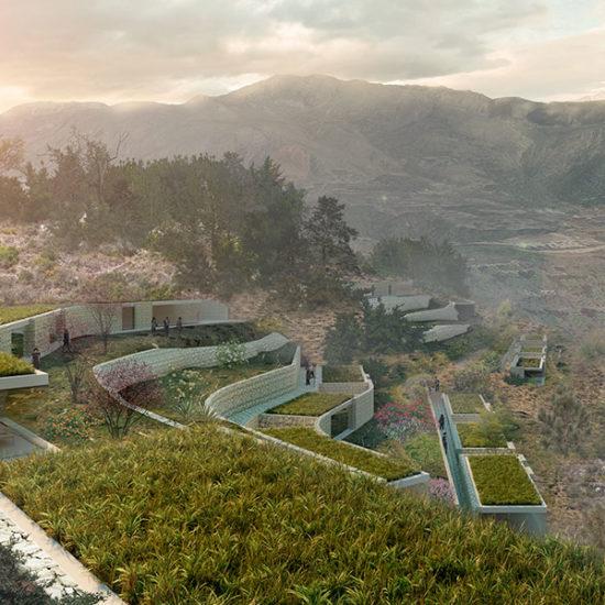 Proyecto Hotelero. MASOS. Valle Gudalest. Arquitectos Alicante. eneseis Arquitectura